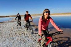 Bicicleta en la Laguna Cejar